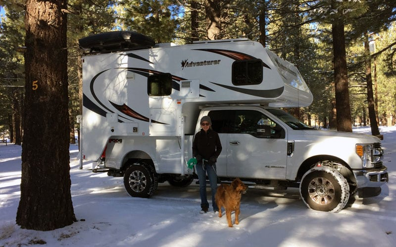 Mammoth RV Park Winter Camping