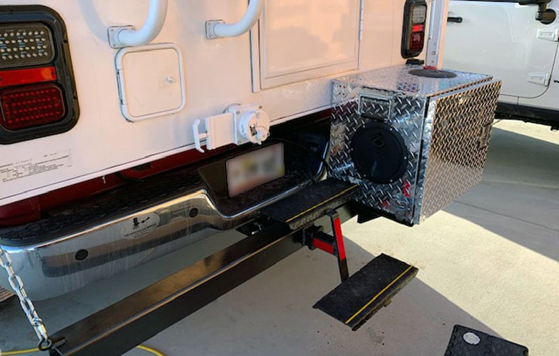 Rear Bumper Step With Generator Box