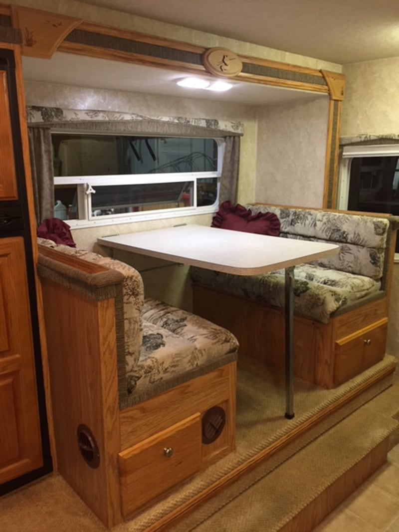 Regular Camper Dinette Before Jackknife Sofa