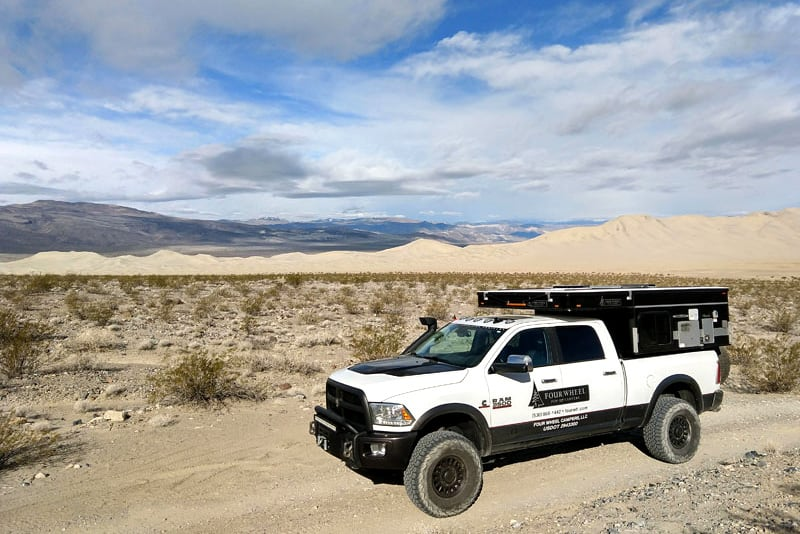 AEV Ram 3500 in the desert camping