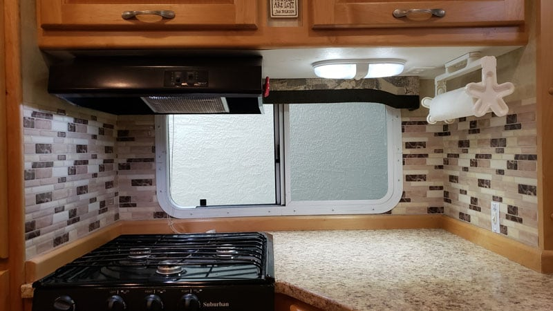 Backsplash Camper Kitchen