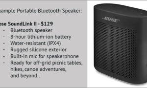 Bose Soundlink II For Camping