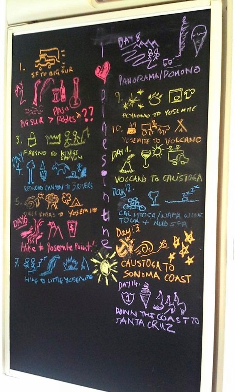 Chalkboard Refrigerator Door Camper