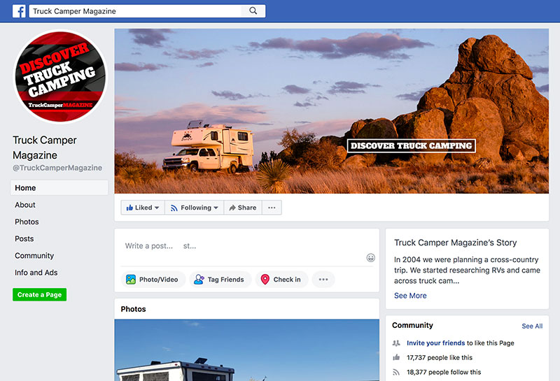 Discover Truck Camping on Facebook