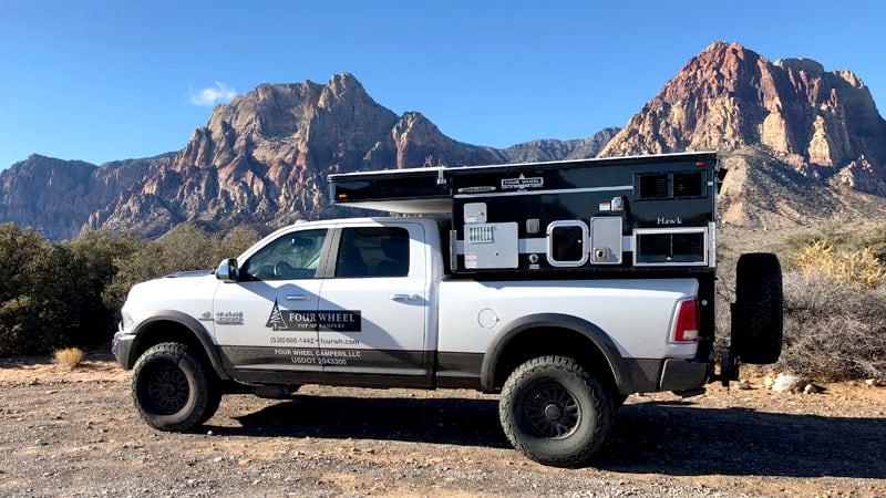 Four Wheel Truck Camper Desert