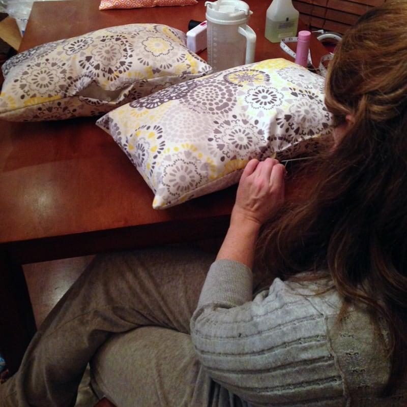 New Cushions Custom Made For Camper