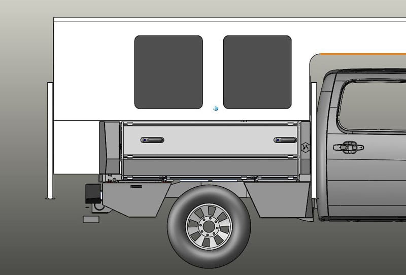 SherpTek Drawing Side View With Truck