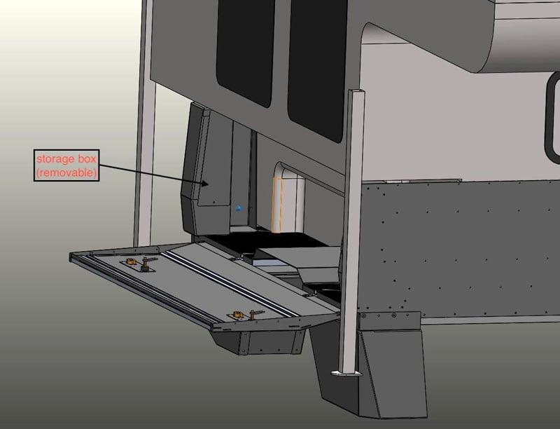SherpTek Drawings Rear Corner Box Flank Storage