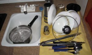 Wash Dishes Minimal Water