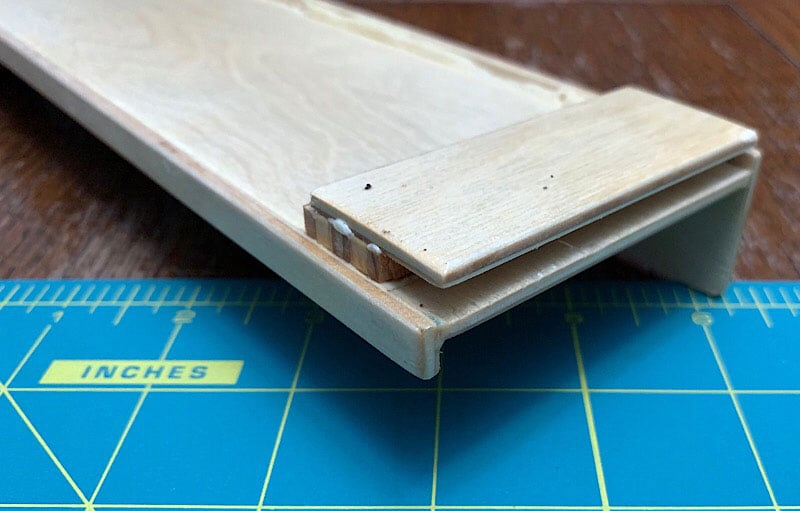 Bathroom Shelf Blockers Glued