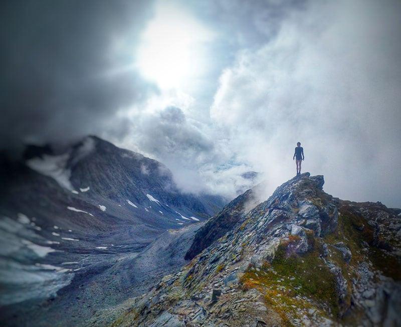 Gloomy Alyeska Mountain