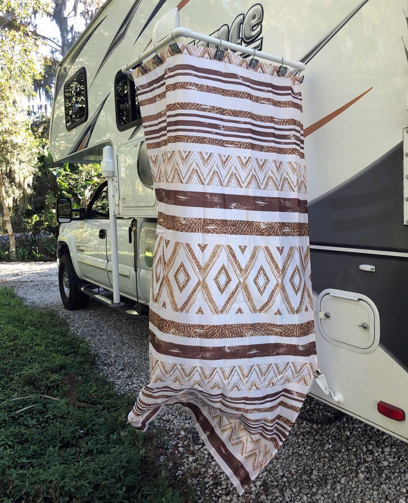 Portable Outside Shower Curtain