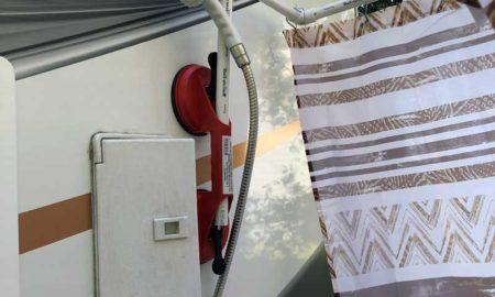 Portable Outside Shower Faucet Set Up