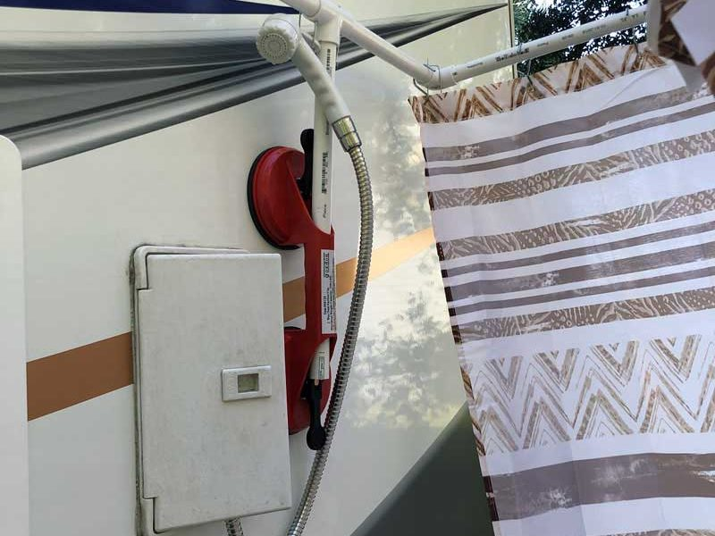 The Truth About Outside RV Showers | Portable outdoor