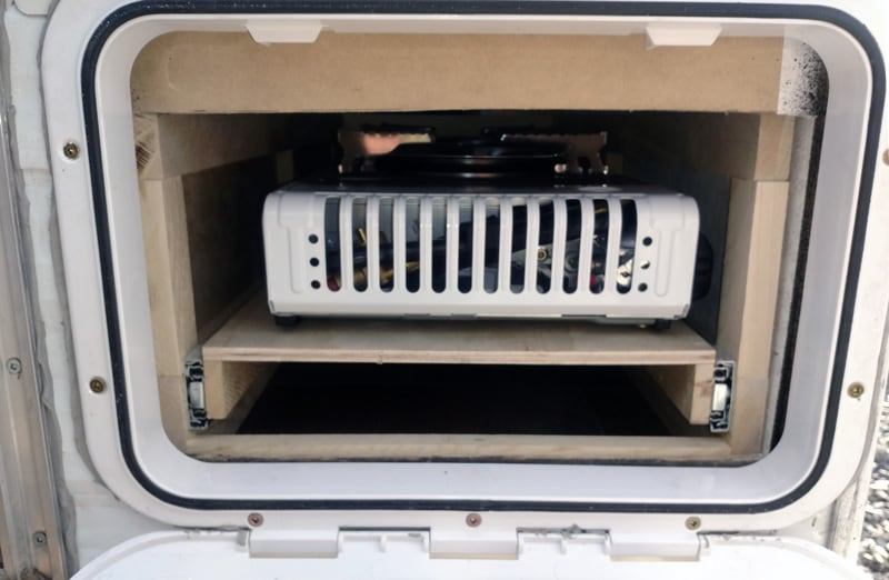 Sliding Drawer Compartment Gas Grill