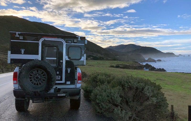 Truck Camper California Coast