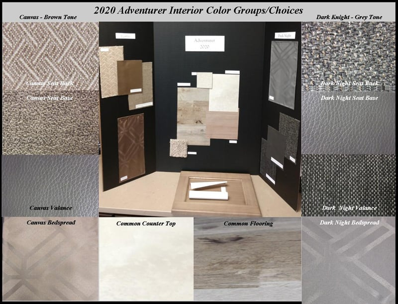 2020 Adventurer Interior Decor Swatches