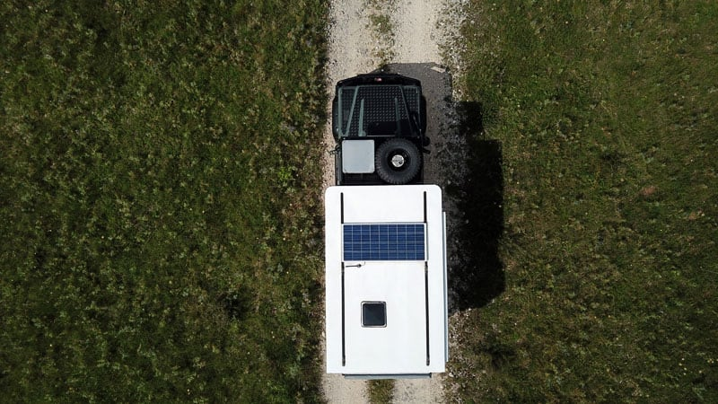 Aerial View Four Wheel Camper Grizzly
