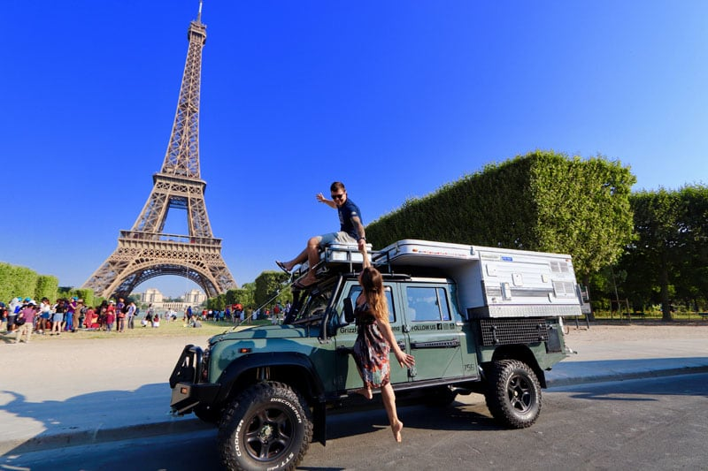 Effel Tower Paris Four Wheel Camper