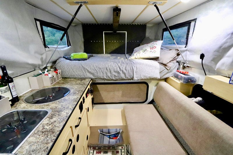 Inside Four Wheel Camper Grizzly