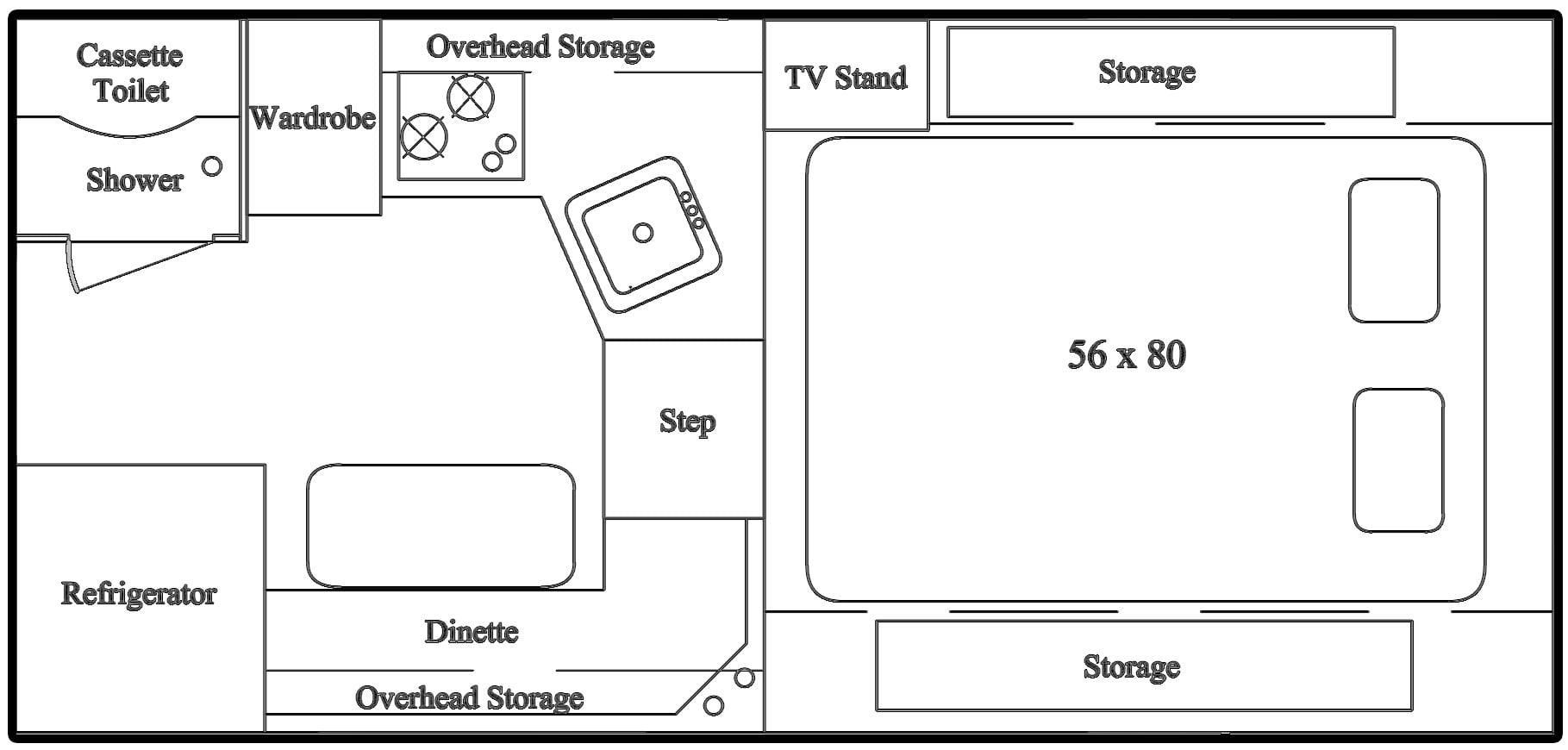 Northstar Liberty Camper Floor Plan