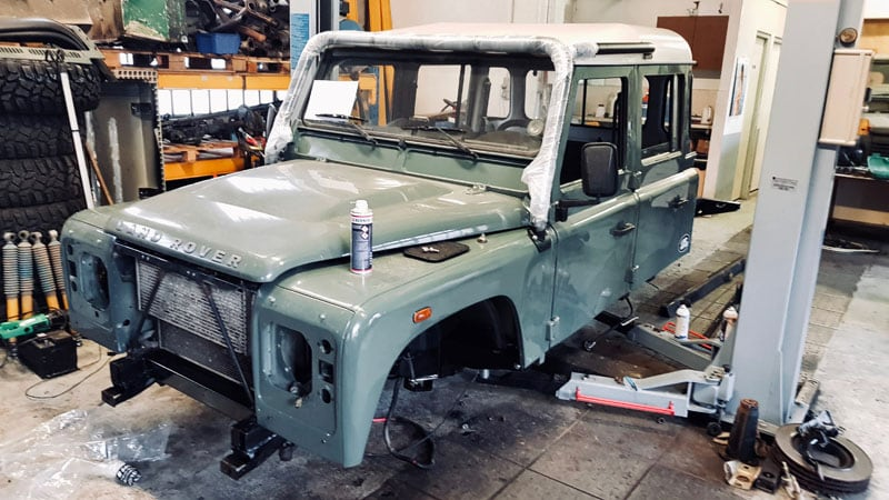 Post Accident Rebuild Defender 130