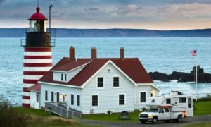 Quoddy Lighthouse In Maine