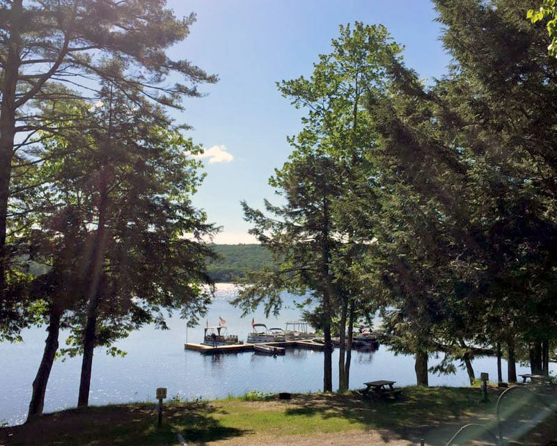 Sennebec Lake Campground In Union Maine