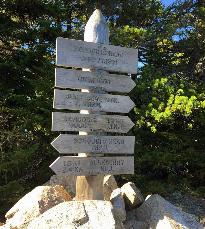 Trail Markers Acadia Maine