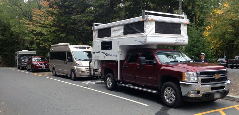 Two Campers Acadia Parking