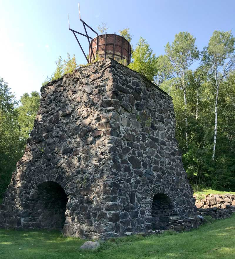 Old Blast Furnace And Kiln That Was Used In The 1800s At This Site For Working Iron