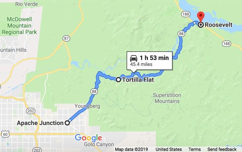 Apache Trail in Arizona