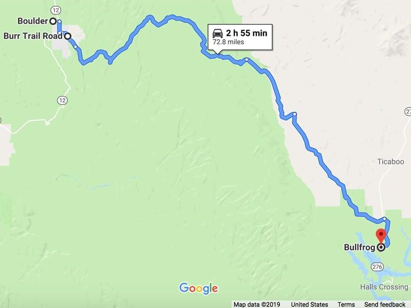 Burr Trail Road in Utah