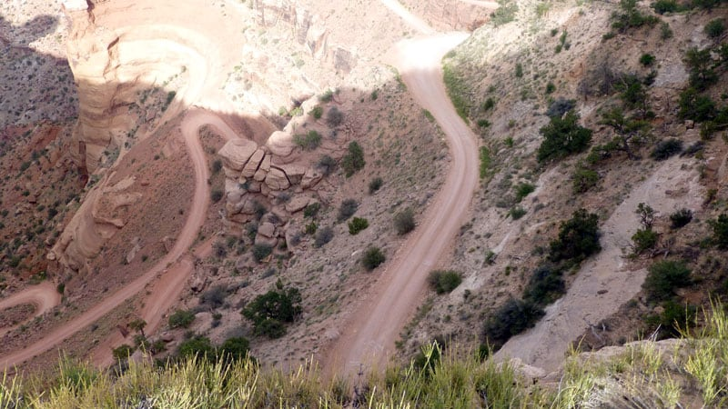 Burr Trail In Utah Switchbacks