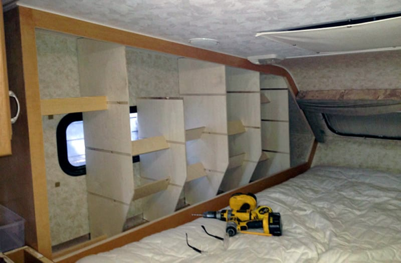 Cubby Shelves Going Into Bedroom