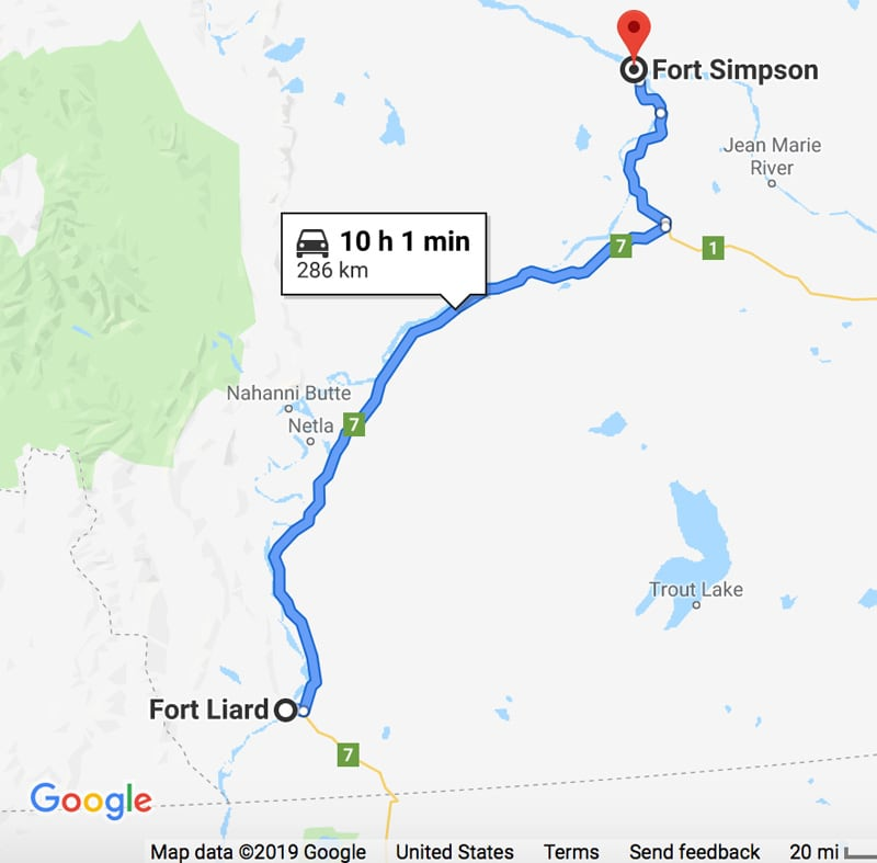 Ft Liard To Ft Simpson in the Northwest Territories