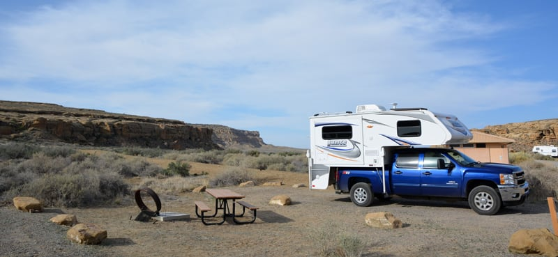 Lance Camper Camping Chaco National Park