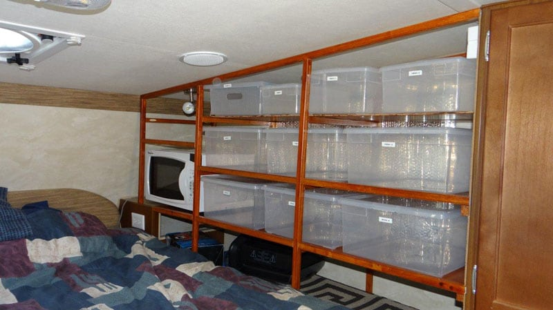 Shelves With Bins