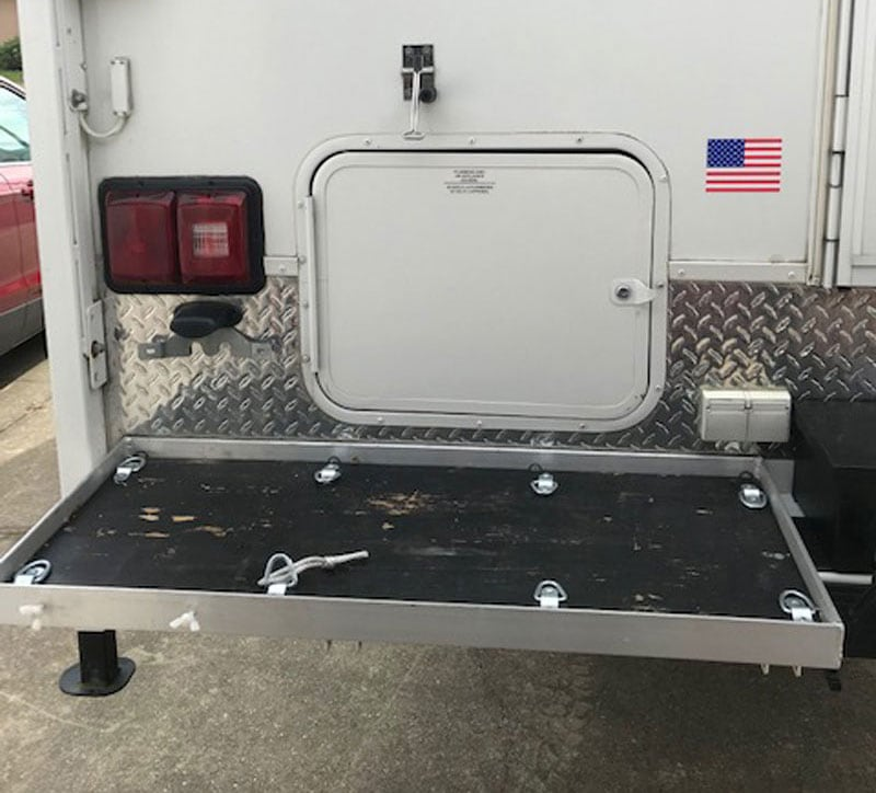 Small Rear Camper Storage Platform