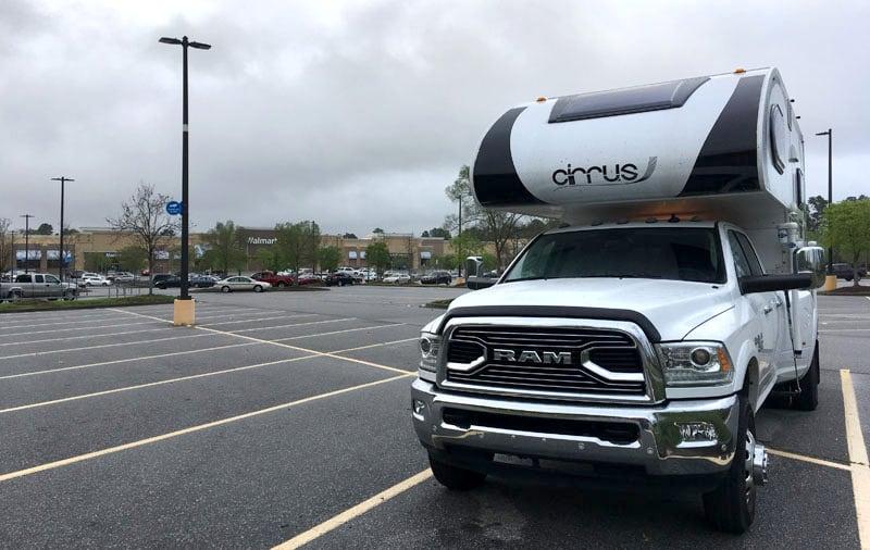 Walmart Back Of The Parking Lot
