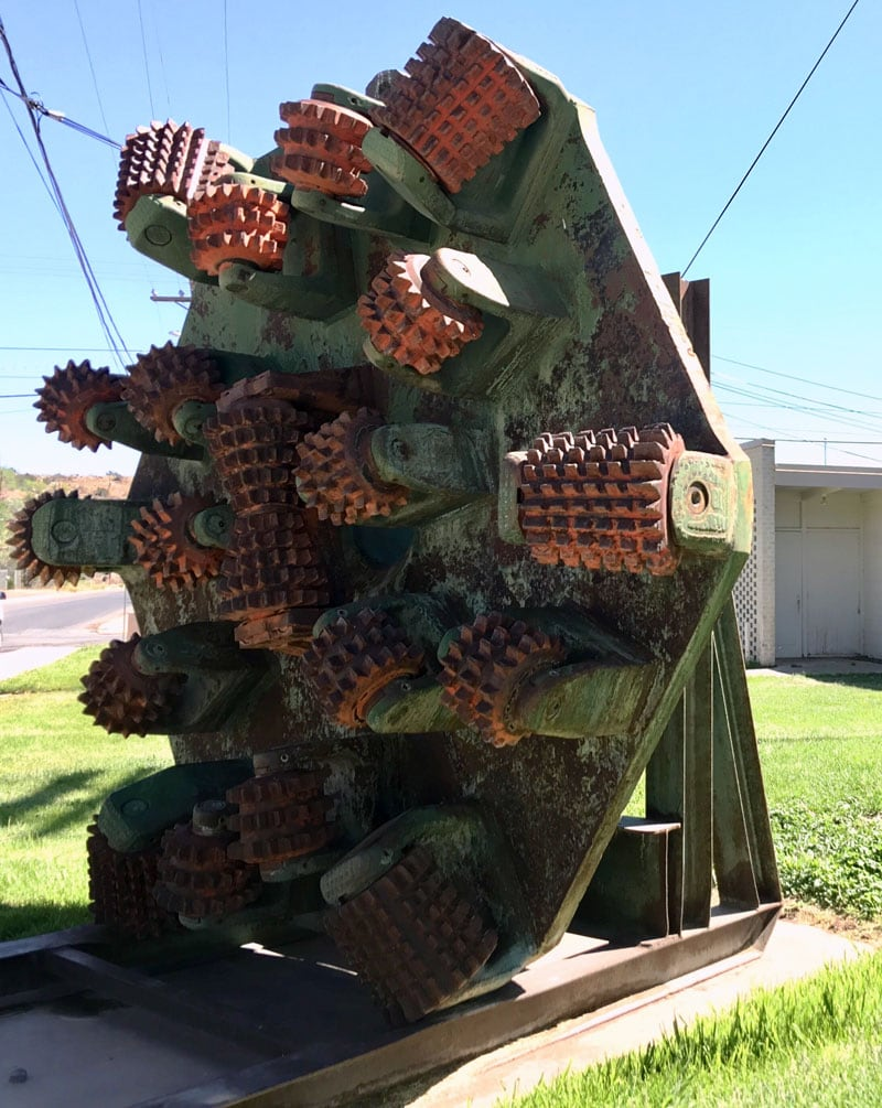 Drill Bit Out In Front Of The Mining Museum
