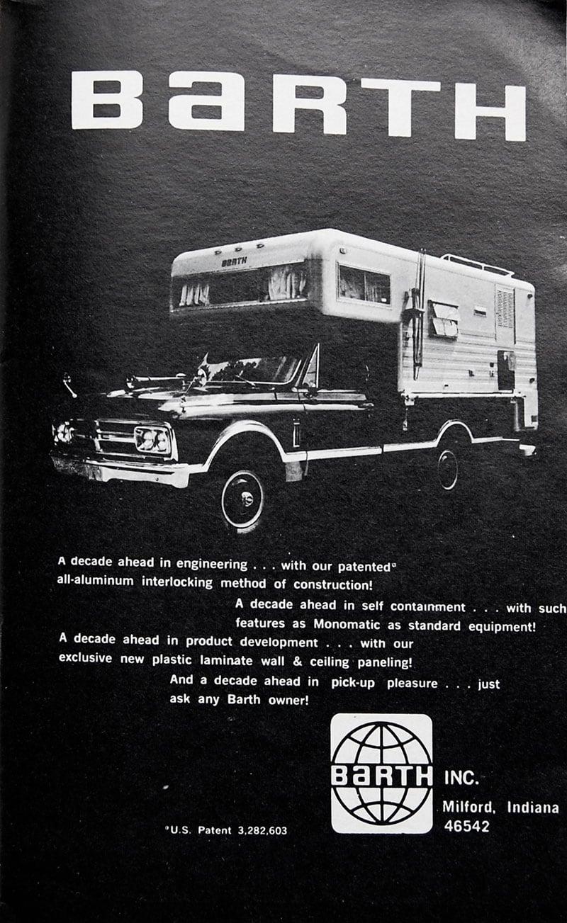 1969 Barth Camper Ad