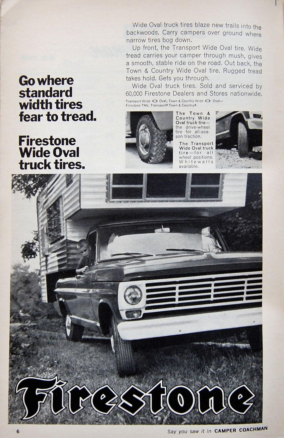 1969 Firestone Tire Camper Ad
