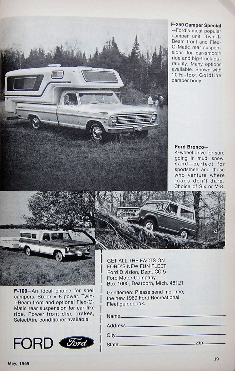 1969 Ford Camper Special Ad