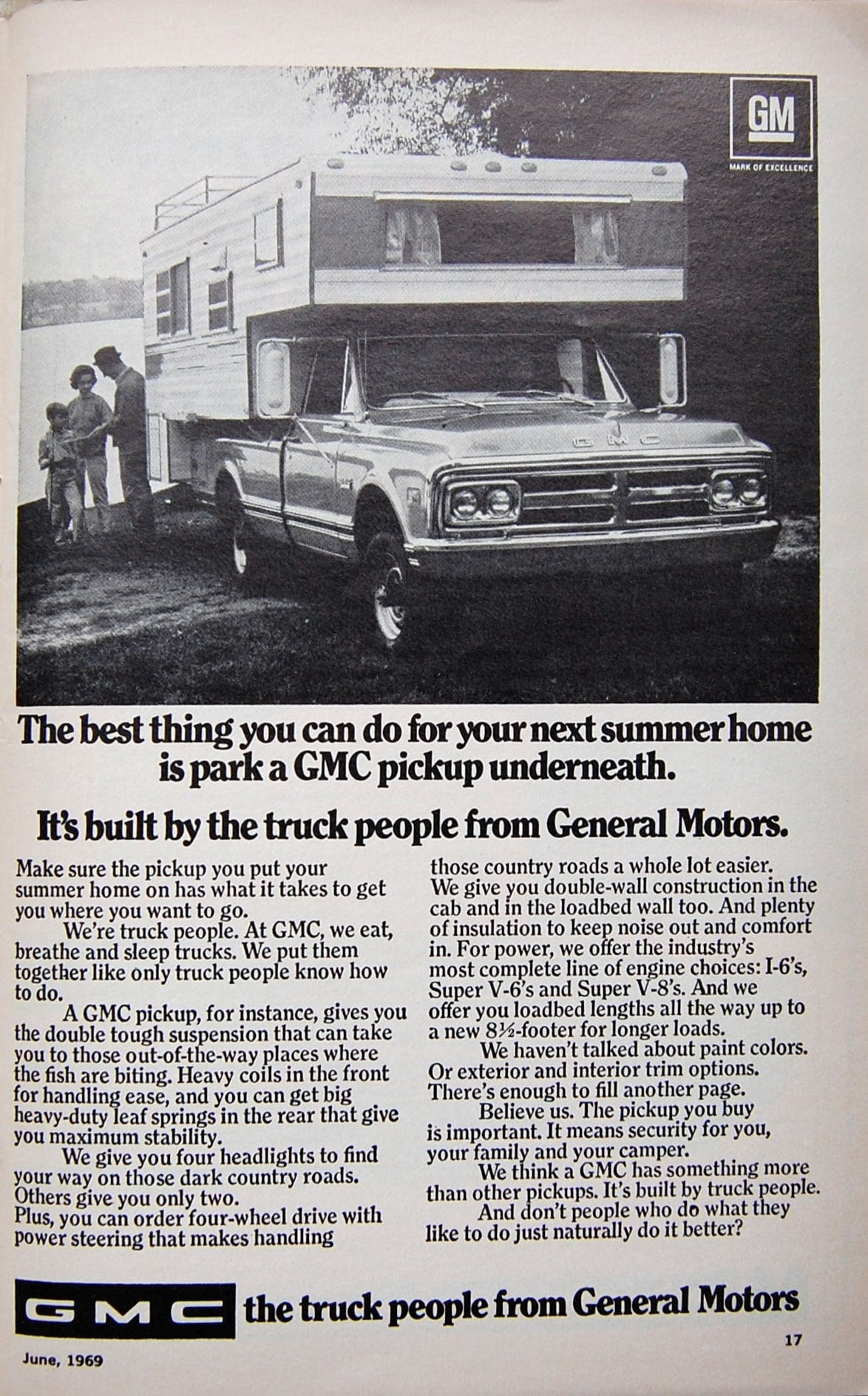 1969 GMC Truck Ad With Camper