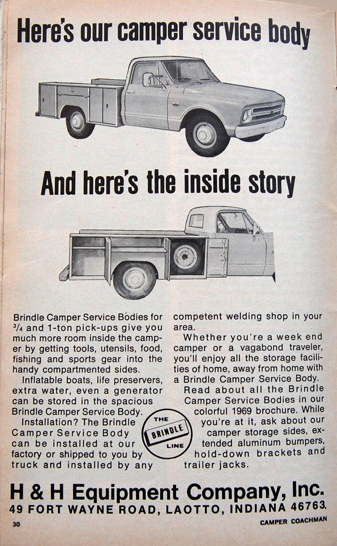 1969 H&H Camper Truck Bed System
