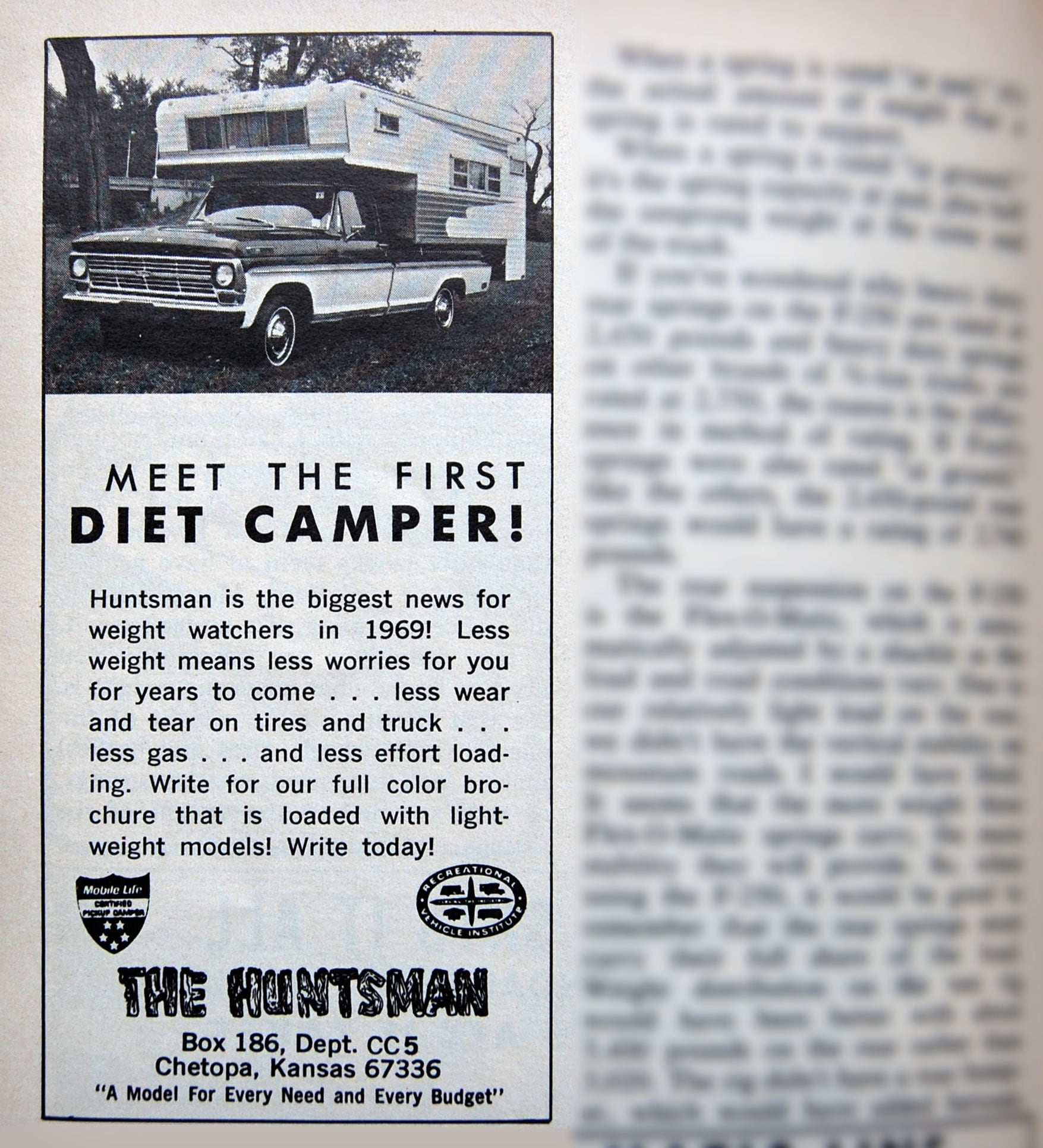 1969 Huntsman Diet Camper