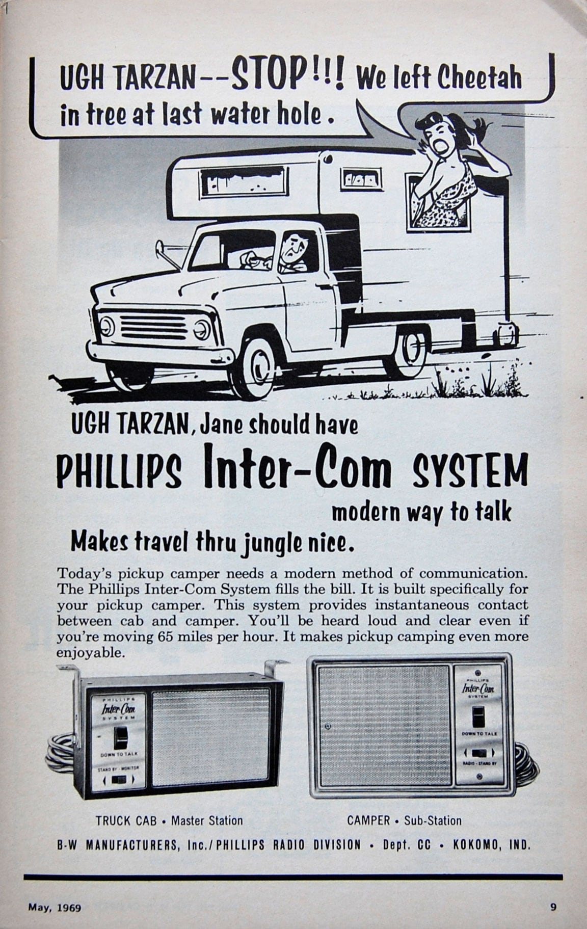 1969 Philips Camper Inter Com Ad