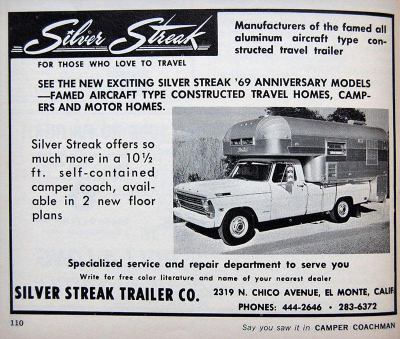 1969 Silver Streak Camper Ad