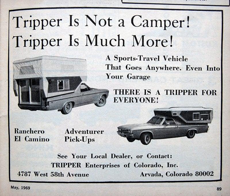 1969 Tripper Camper Ad